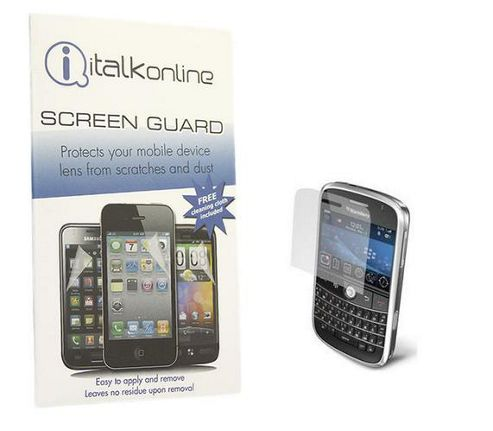 iTALKonline S-Protect LCD Screen Protector and Micro Fibre Cleaning Cloth - For BlackBerry 9000 Boldq