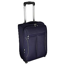 Tesco Lightest 2-Wheel Small Purple/Grey Suitcase