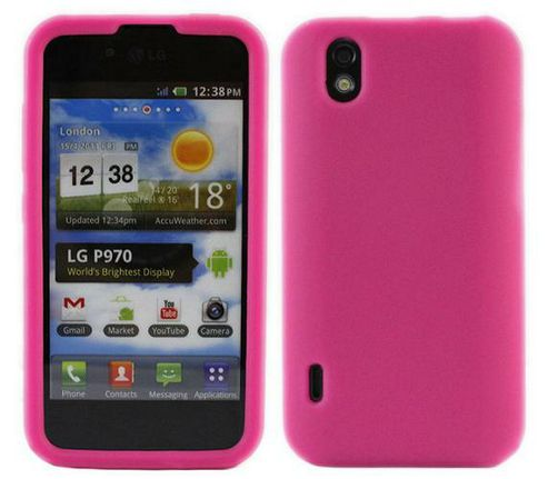 iTALKonline SoftSkin Pink Silicone Case - For LG P970 Optimus Black Schwarz