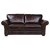 Aldeborough Large 3 Seater Leather Sofa, Walnut