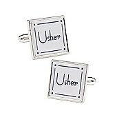 Classic Square Usher Wedding Cufflinks