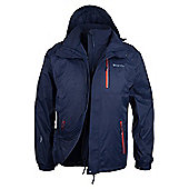 Bracken Extreme 3 in 1 Mens Waterproof Jacket - Navy