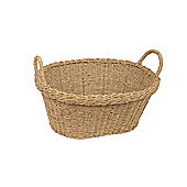 Wicker Valley Seagrass Oval Basket