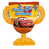 """Disney Cars Balloon - 26"""" Foil Trophy - 5th Birthday (each)"""