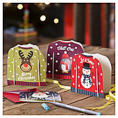 Fun Jumper Christmas Cards, 20 pack