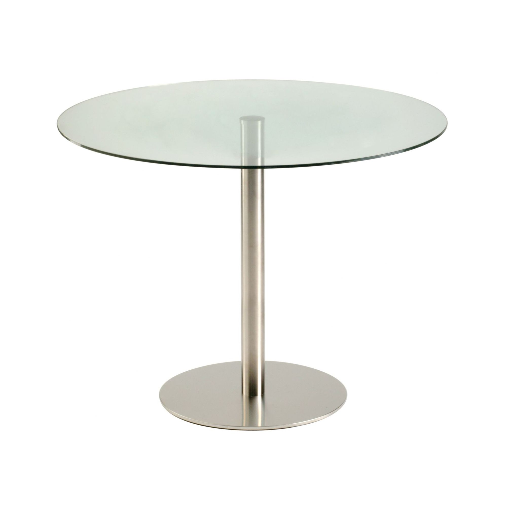 round kitchen casual dining table 60 cm clear glass features round