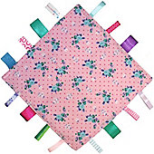 Dotty Fish Baby Tag Blanket - Pink Flower