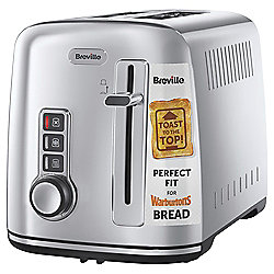 Breville 2 Slice Toaster - Silver - The Perfect fit for Warburtons