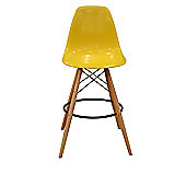 Charles Eames Style DSW Yellow Bar Stool
