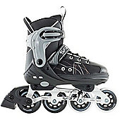 SFR RX-XT Adjustable Inline Skates - Black/Grey - Large (UK 3.5 - UK 6) - Black