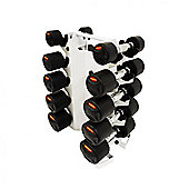 Bodymax 5 Pair Dumbbell Rack and Dumbbells (2, 4, 6, 8, 10)