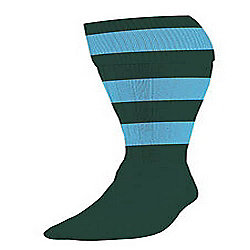 Precision Training Hooped Football Socks Mens Bottle/Sky