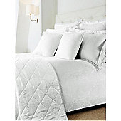 Hotel Collection Damask Double Duvet Cover Set In White