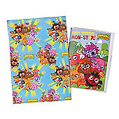 Moshi Monsters Wrapping Paper' Birthday Card and Gift Tags Pack