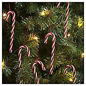 Candy Canes Christmas Tree Decorations, 6 pack