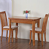 G&P Furniture Windsor House 3-Piece Newark Flip Top Dining Set - Maple