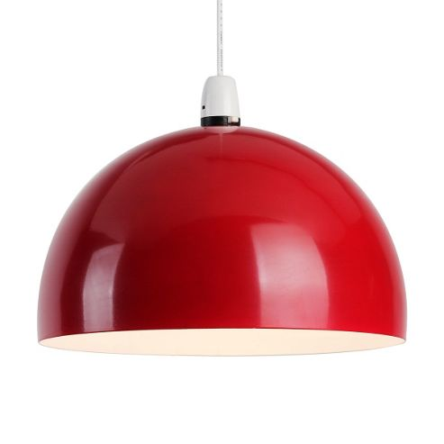 Curva Dome Ceiling Pendant Light Shade, Red