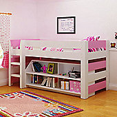 Seconique Lollipop Mid Sleeper Bunk Bed - White / Pink
