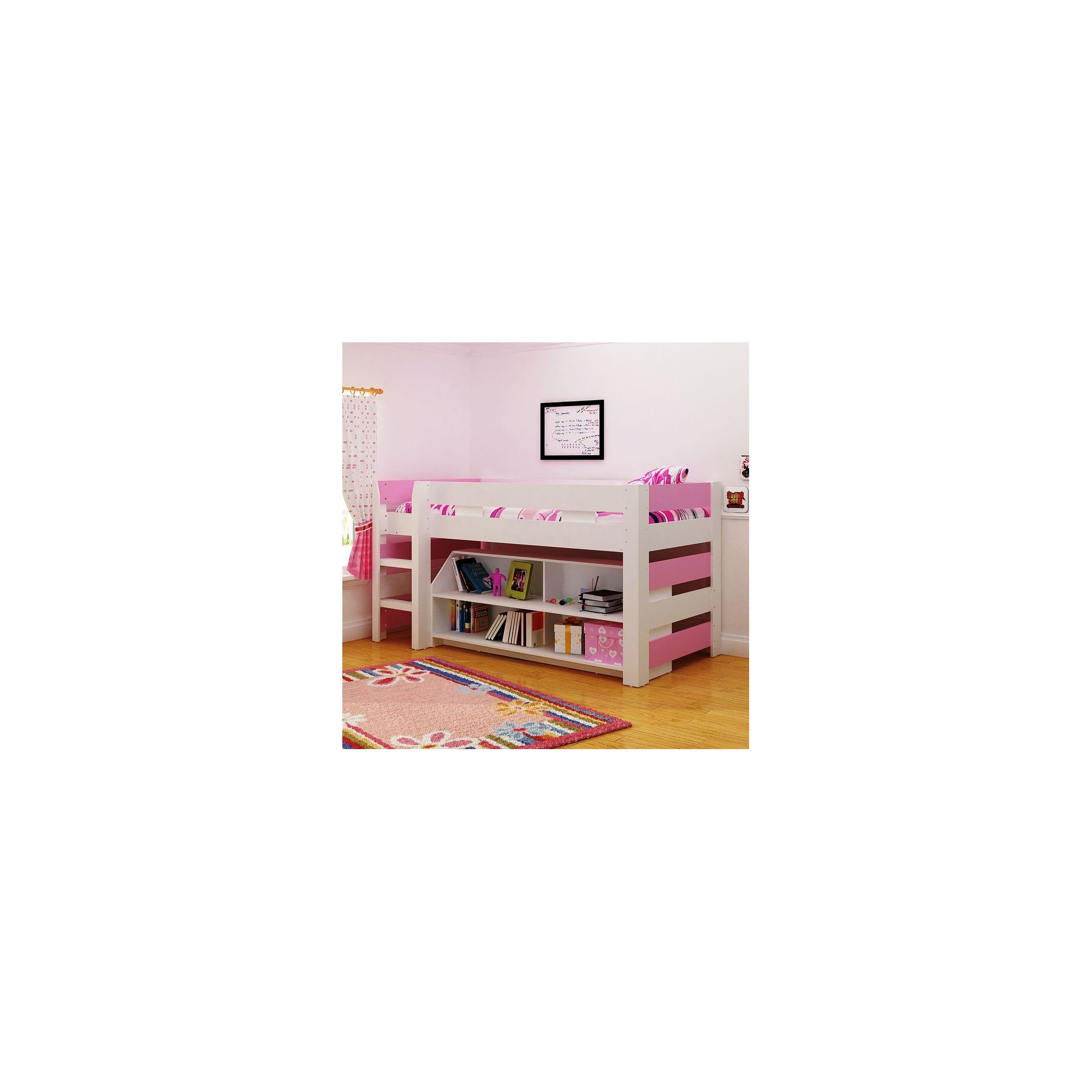 Home Essence Lollipop Mid Sleeper - White / Pink at Tesco Direct