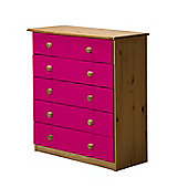 4 + 2 Chest of Drawers in Antique and Fuchsia