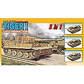 Dragon 6253 Sd.Kfz.181 Tiger I Tank Late Prod (3 In 1) 1:35 Military Model Kit