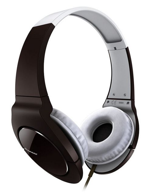 Pioneer Fully Enclosed Headphones with Swivel Black SE-MJ521-T