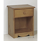 Verona 1 Drawer Bedside Table - Purple