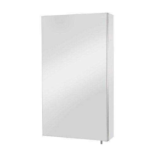 Croydex Anton Standard Single Door Stainless Steel Bathroom Cabinet