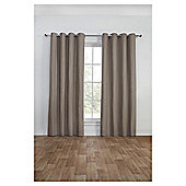 Canvas Lined Eyelet Curtains, Duck Egg (46 x 54'') - Mocha