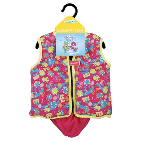 Speedo Sea Squad Swim Vest, 4-5 years, Pink