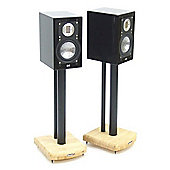 MOSECO 5 Black and Bamboo Speaker Stands