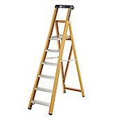 Heavy Duty 9 Tread GRP Fibreglass Platform Step Ladder (Alloy Tread)