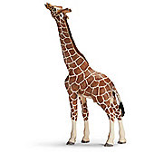 Schleich Giraffe male eating