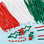 Christmas Pipe Cleaner Value Pack for Children for Crafting (Pack of 120)