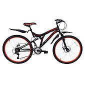 "Magna mens full suspension Push Bike - 26"" wheel bicycle"