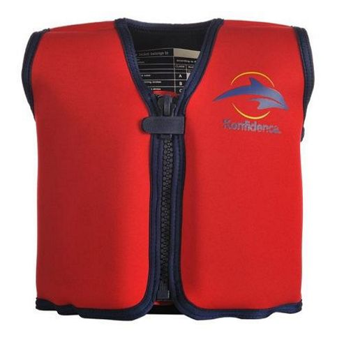 Konfidence Float Jacket Red 2 to 3 years