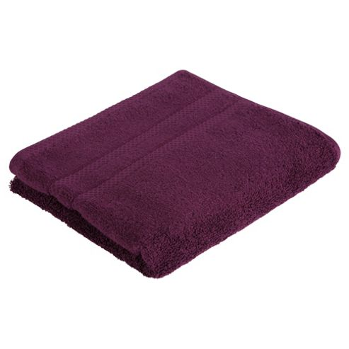Tesco 100% Combed Cotton Hand Towel Plum