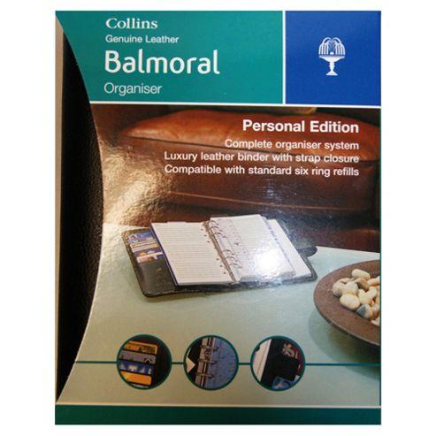 Collins Balmoral Premium Leather A5 Personal Organiser, Black