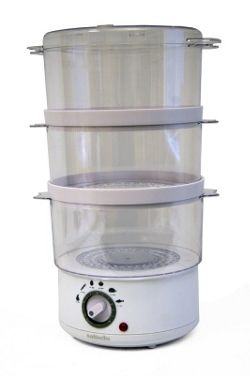 Sabichi ThreeTier Steamer in White