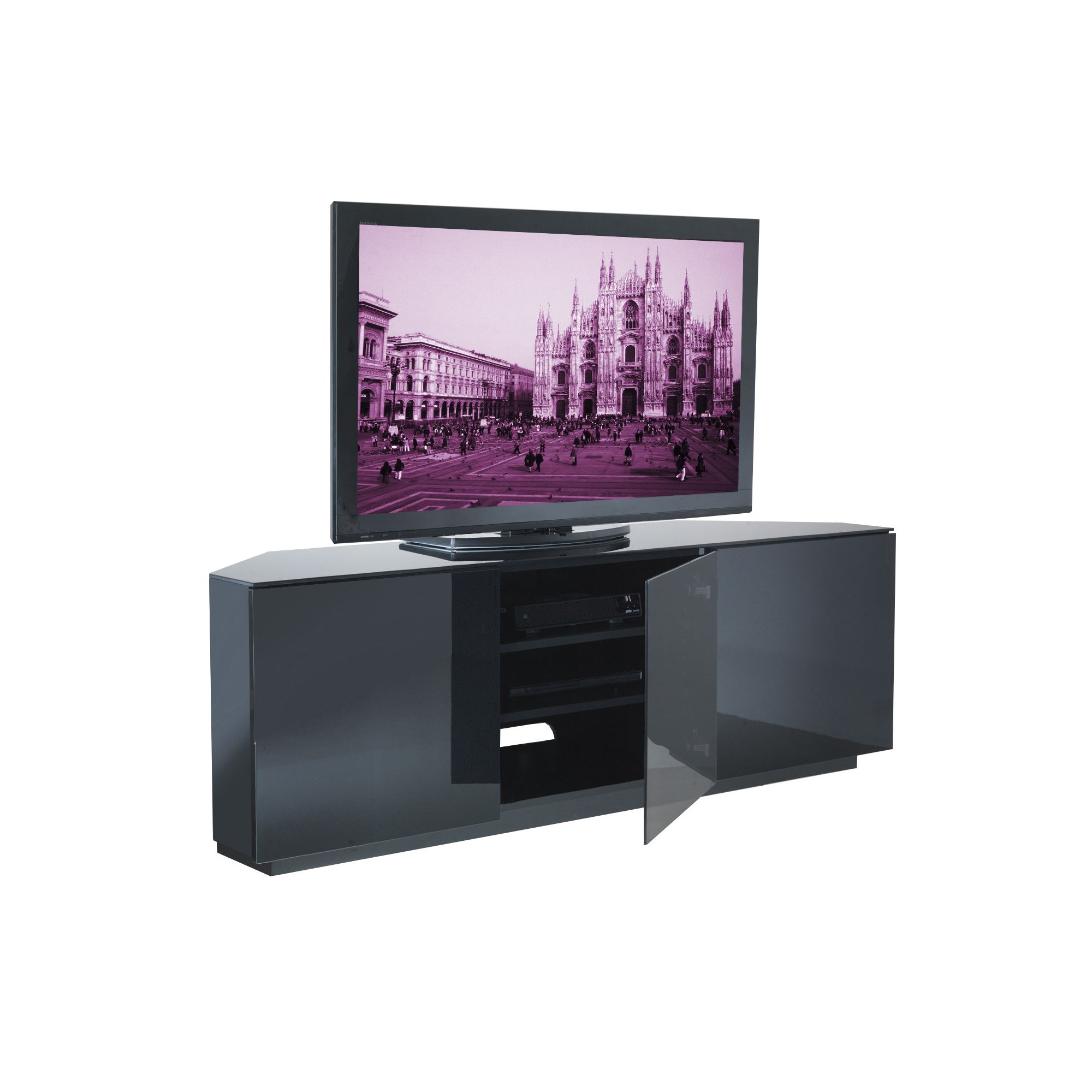UK-CF City Scape Milan 60'' TV Stand - Black at Tesco Direct