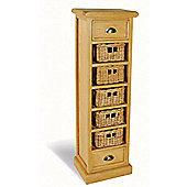 Ultimum Somerset Oak Tallboy with 5 Baskets