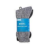 Outdoor Sock 3 Pack - Black