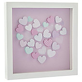 Tesco Heart Framed Wall Art