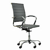 Strava Faux Leather Office Chair Grey