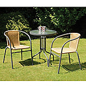 Suntime Bambi Natural Rattan Bistro Set
