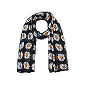 Black and White Summer Daisy Scarf