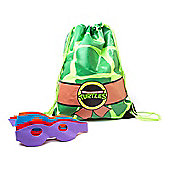 Teenage Mutant Ninja Turtles Retro Turtle Shell Drawstring Gymbag with Masks - Accessories