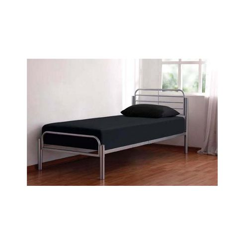Home Zone Alpha Bed Frame in Silver - Single