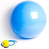 Confidence 65Cm Anti-Burst Yoga Pilates Exercise Swiss Gym Ball With Foot Pump