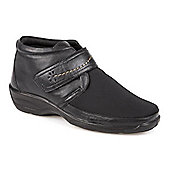 Pavers Leather Shoe Boot - Black
